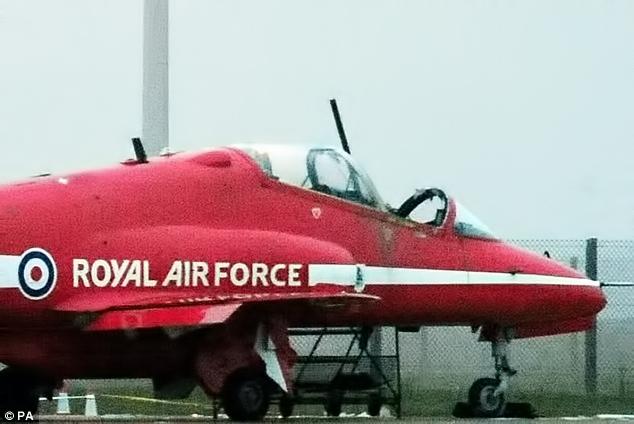 Flt Lt Sean Cunningham's aircraft during the incident