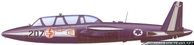 IAI Tzukit (CM.170 Fouga Magister), first blue-white paint scheme