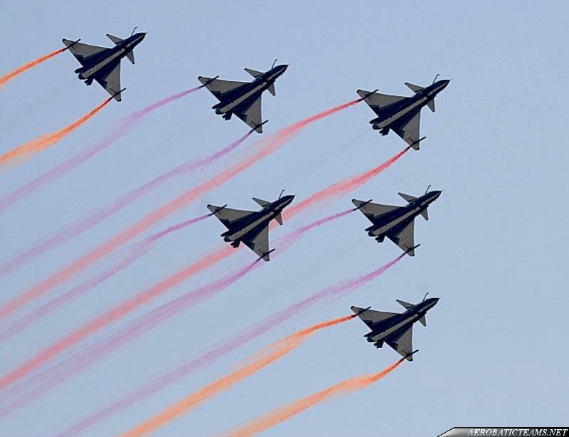 August 1st J-10 in six-ship formation
