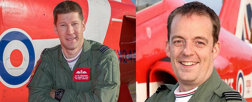 Flight Lieutenant David Simmonds on the left and Flight Lieutenant Mike Bowden on the right. Photos RAF