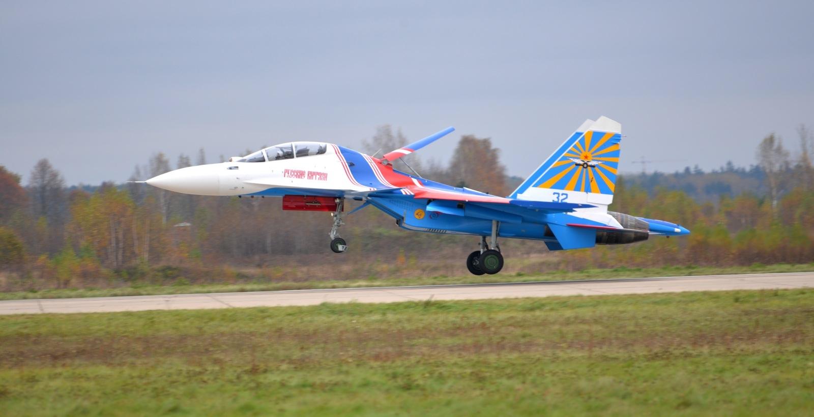 Russian Knights Su-30SM landed at Kubinka. Photo strizhi.ru