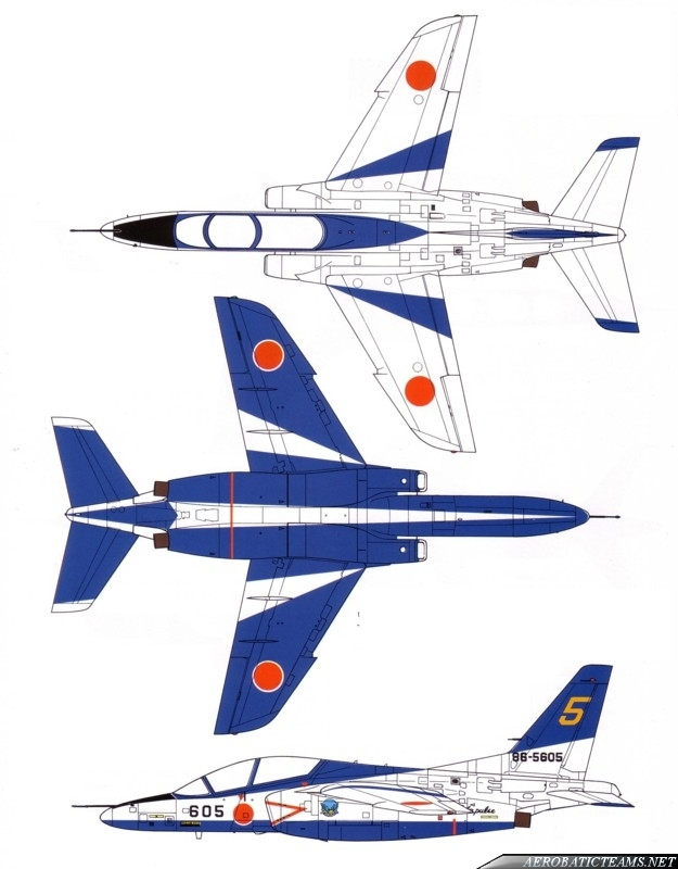Blue Impulse Kawasaki T-4 paint scheme