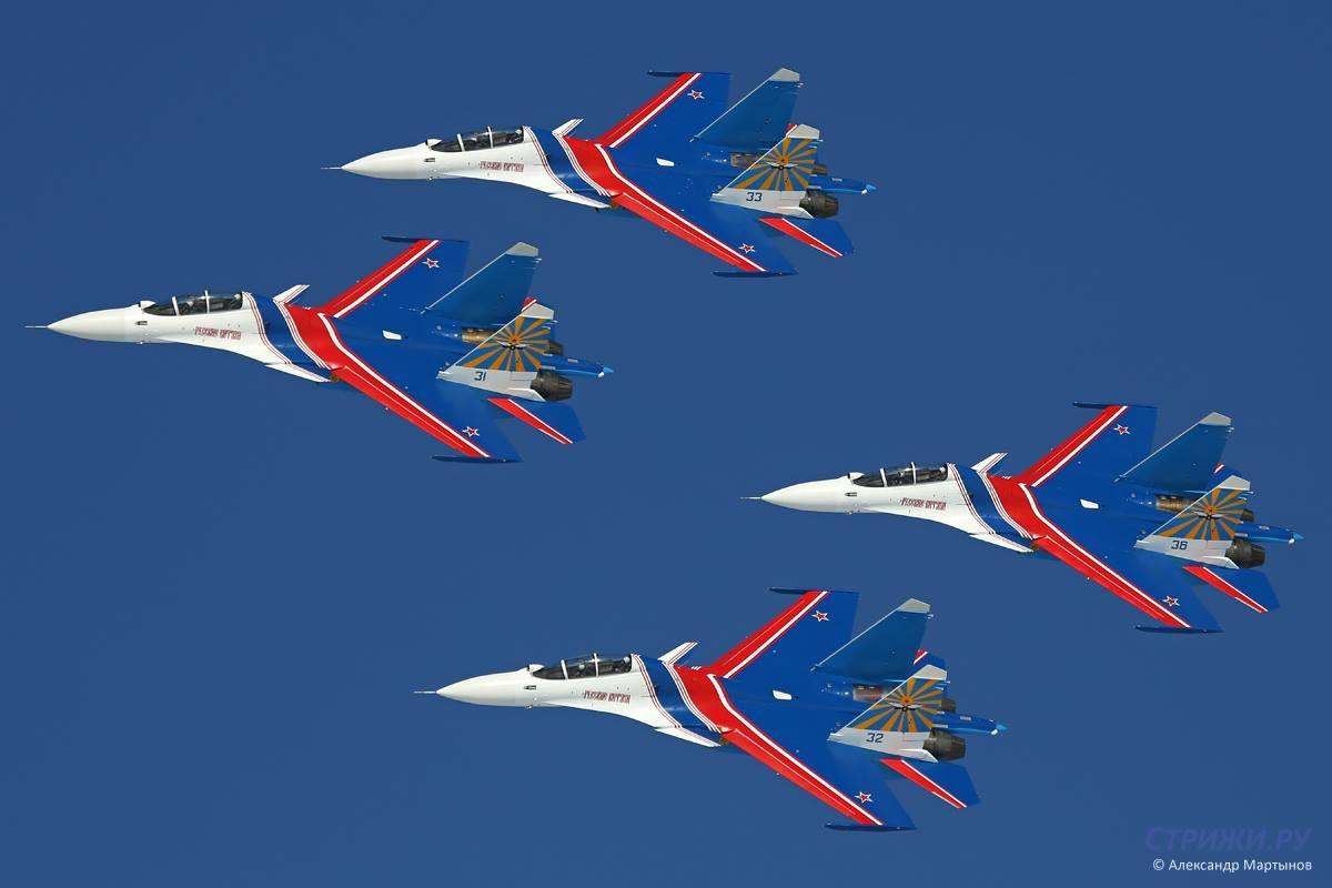 Russian Knights Su-30SM. Photo Alexandr Martynov