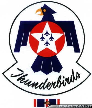Thunderbirds F-100 Super Sabre badge