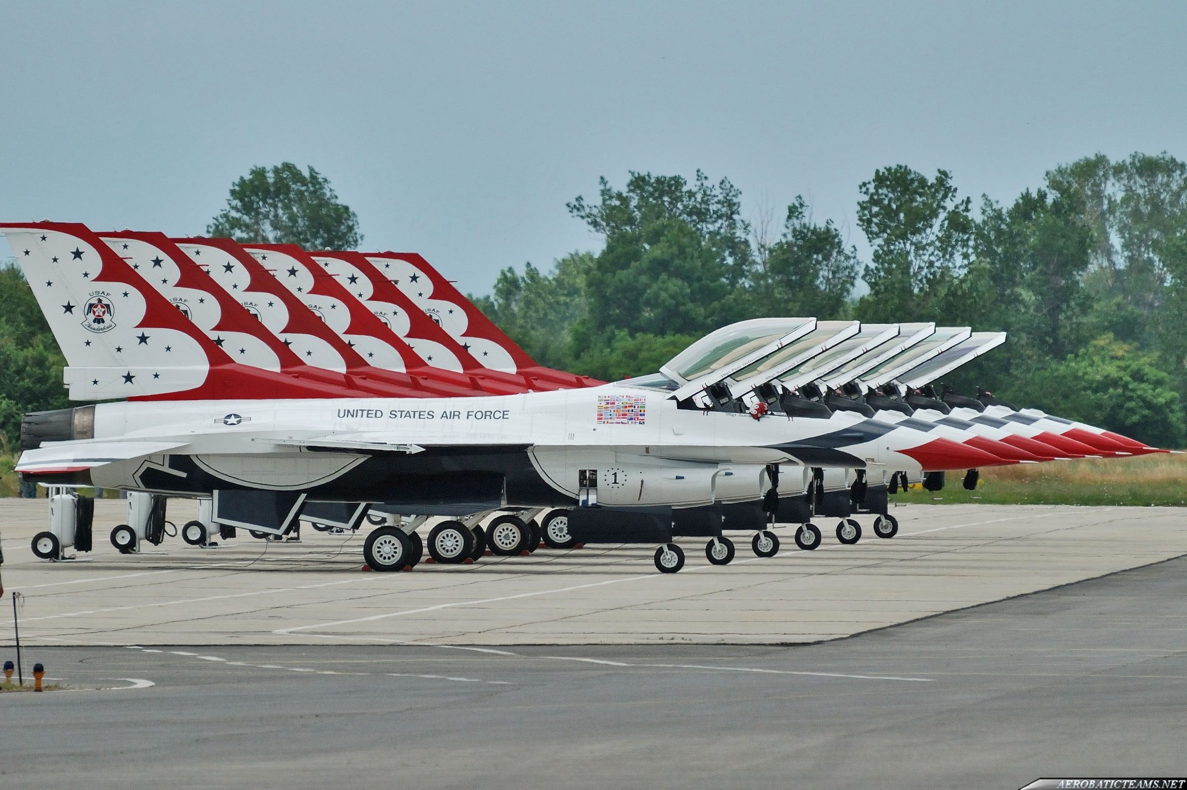 Thunderbirds at Graf Ignatievo Air Base in Bulgaria