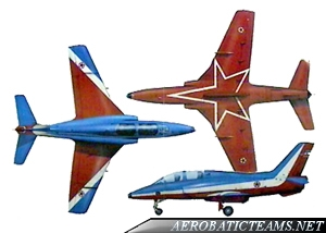 Flying Stars SOKO G-4 Super Galeb paint scheme