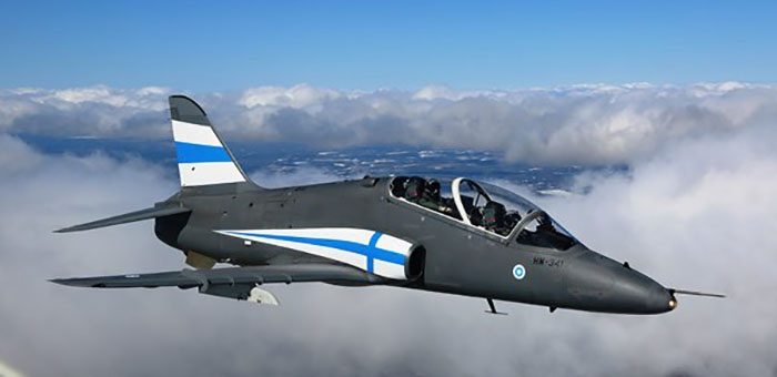 Midnight Hawks in Finland's 100 years of independence spacial livery. Photo Finnish Air Force