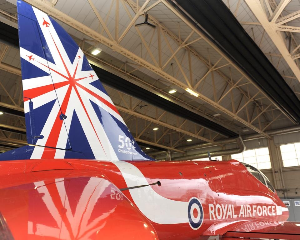 Red Arrows new tailfin livery to mark its 50th display season in 2014