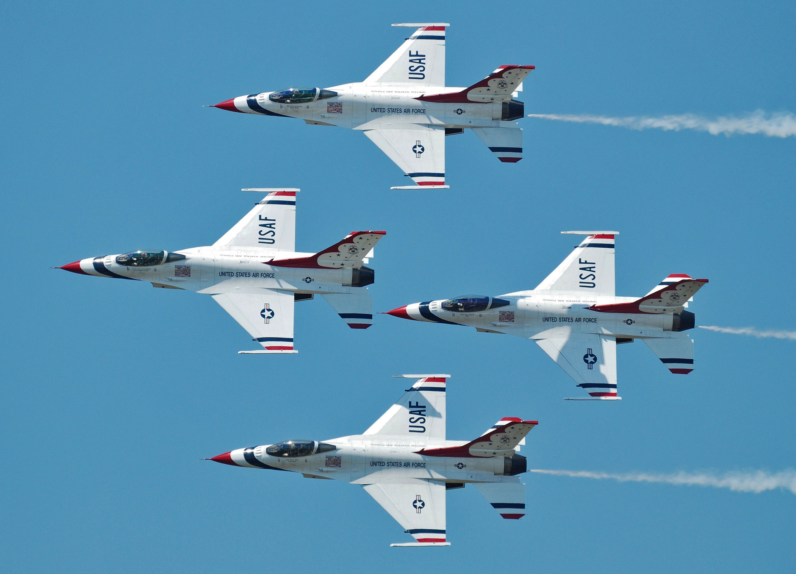Thunderbirds during practice day for Bulgaria display, 24 June 2011.