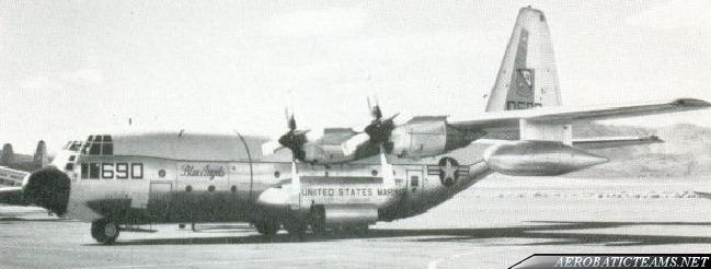 Blue Angels C-130 Hercules Fat Albert. First unpainted scheme.