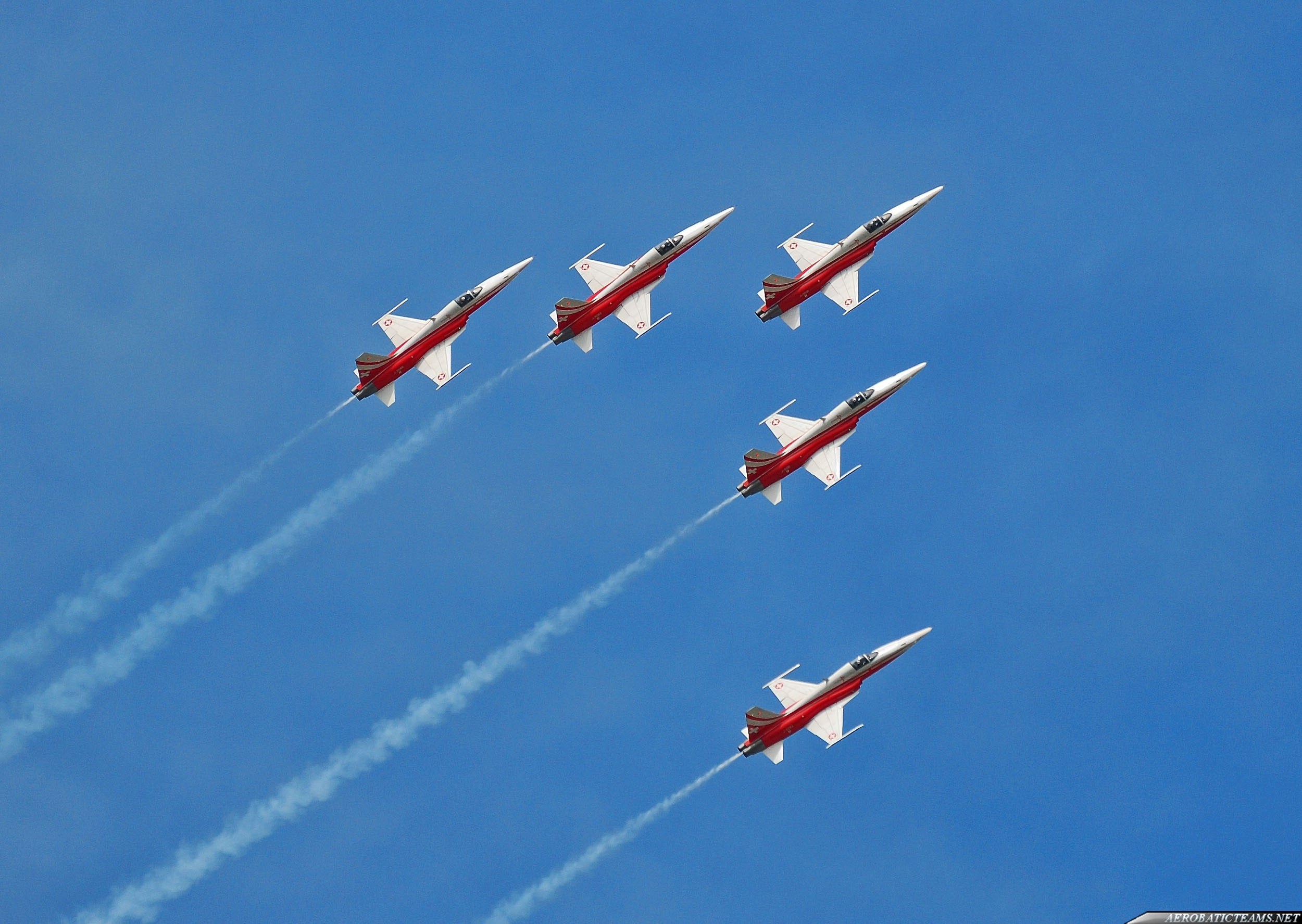Patrouille Suisse in five ship formation