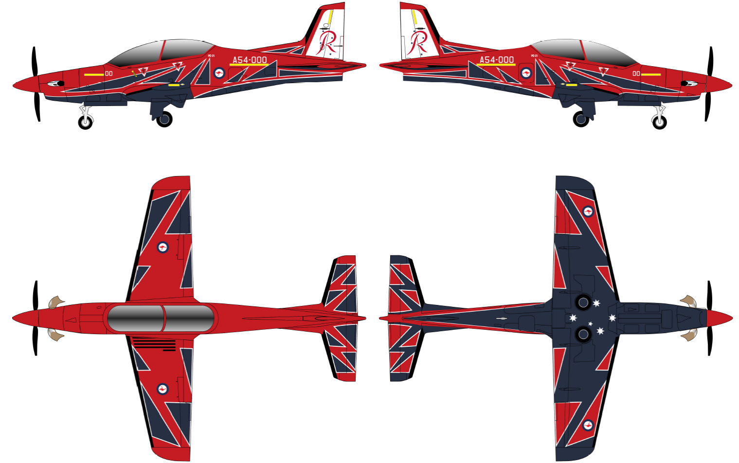 Roulettes new PC-21 livery. Source RAAF website