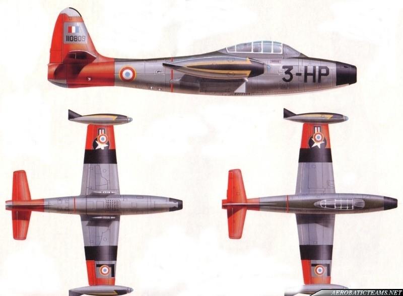 Patrouille de France F-84G Thunderjet paint scheme