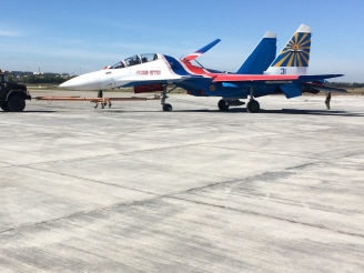 Russian Knights first painted Su-30SM