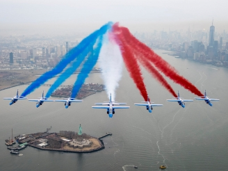 Patrouille de France historic flyover at New York