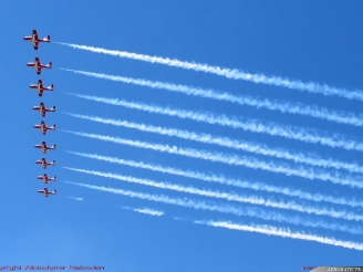 Snowbirds flyover dedicated to a sick child