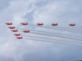 Red Arrows just returned to UK
