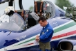 Maj. Mirco Caffelli before take off during Frecce Tricoloris 55-anniversary airshow. Rivolto Air Base Sept.5, 2016.