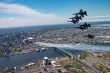 Thunderbirds and Blue Angels flyover New York. Photo by USAF