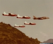 The Poachers Jet Provost T.5 leading by Harrier