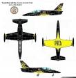 Russ Aero L-39 Albatros new 2011 paint scheme. Drawing by Tony R