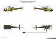 Grasshoppers Alouette III 1978 paint scheme. Drawing by K.W. Jonker