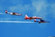 Bialo-Czerwone Iskry TS-11 in joint flight with Patrouille de France and Patrouille Suisse
