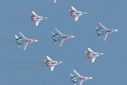 Russian Knights and Swifts over Crimea