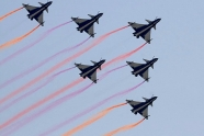 August 1st debut with six J-10s in formation