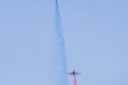 Thunderbirds tested blue and red smoke to paint national flag colors in the sky