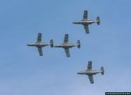 Austrian Air Force SAAB 105 formation flying display