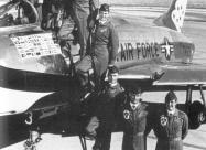 1967 Thunderbirds team from top to bottom: Lader Maj. Neil Eddins, Capt. Mack Angel, Maj. Stan Musser, Capt. Jack Dickey, Capt. Tony McPeak and Capt.Mike Miller