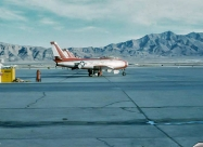 Minute Men and Thunderbirds. April 1959 World Congress of Flight at Nellis AFB