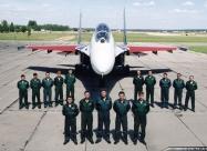 Russian Knights Su-27 crew and pilots