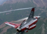 F-16 painted in Minute Men colors to mark 50th Anniversary of the team.