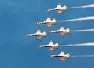 Thunderbirds T-38 Talon. Castle AFB 1980. Photo by Pat Kelly