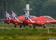 Red Arrows Hawk in 50th display season livery