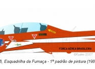Esquadrliha da Fumaca T-27 Tucano, red-white paint scheme from 1982 to 2002