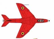 Red Devils Hawker Hunter paint scheme
