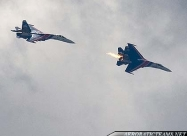 Russian Knights 2009 crash. Second Su-27 involved in crash falling with right engine cought on fire