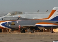 Silver Falcons MB-326 Impala Mk.I. Second paint scheme from 1985 to 1994