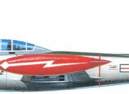 Skyblazers F-84E Thunderjet. Detroit Airshow in Aug 1952 paint scheme