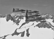 Skyblazers F-84E Thunderjet over Alps. Photo via Kelly Evans