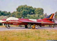 Red Devils Hawker Hunter F.6. Photo Belgian Air Force