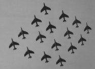Sixteen-ship team with Hawker Hunter F.6. Later four of them became Red Devils