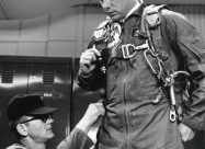Thunderbirds F-100D pilot prepares for flight