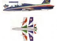Frecce Tricolori Aermacchi MB339 paint scheme