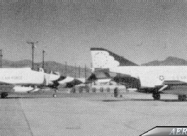 Two of the Thunderbirds Phantoms are seen here at Nellis in 1974, after the replacement by T-38 Talon, with their whited-out numbers awaiting for combat repainting