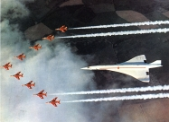 Red Arrows Folland Gnat and Concorde