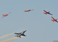 Red Devils and Balgian Air Force F-16 demo team
